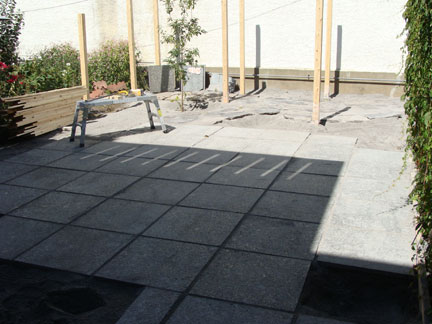 2 Different Stone Patio Surfaces.