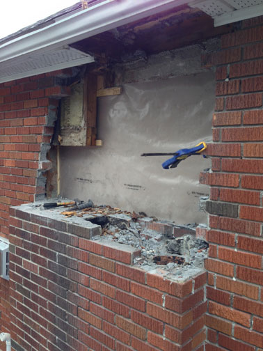 Case Study Wall Restructuring Lower Chimney Removal