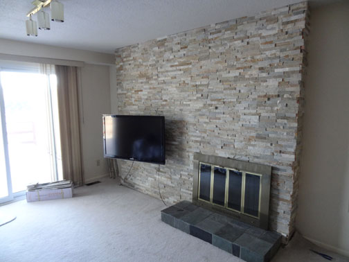Tv Mount And Stone Fireplace Surround Ottawa Case Study