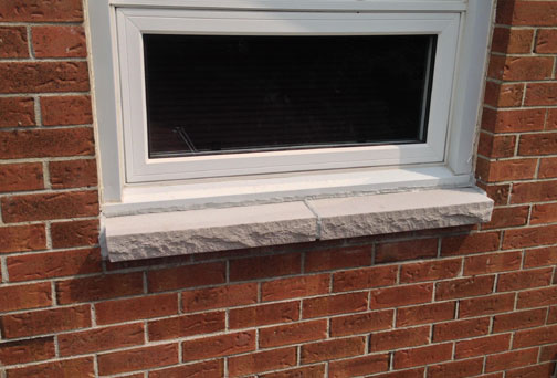 brick to stone window sill replacement ottawa case
