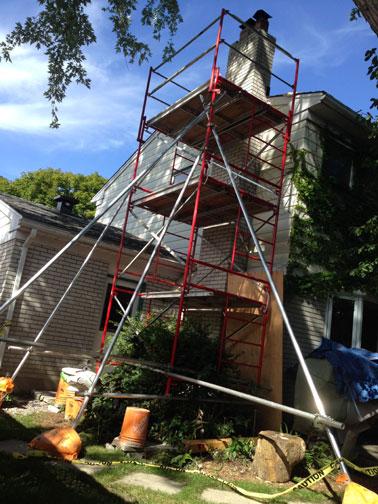 Case Study Wobbly Chimney Internal Damage