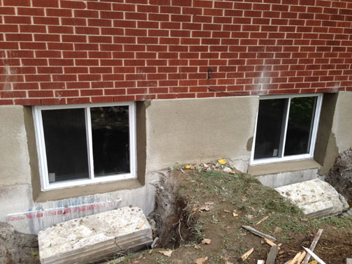 case study concrete basement window concrete wall cut out and