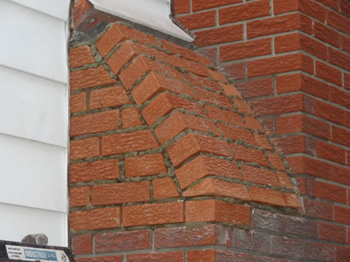 Case Study Chimney Sloped Side Repair Brick Removal And
