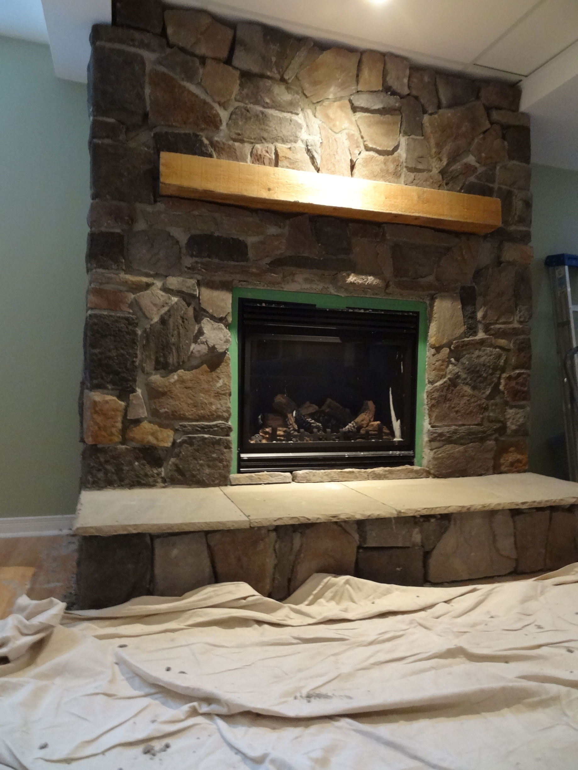 Cultured stone fireplace surround - Natural Stone Fireplace Surround Ottawa Case Study Techniques