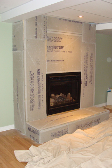 Cement Board Chimney : Natural stone fireplace surround ottawa case study