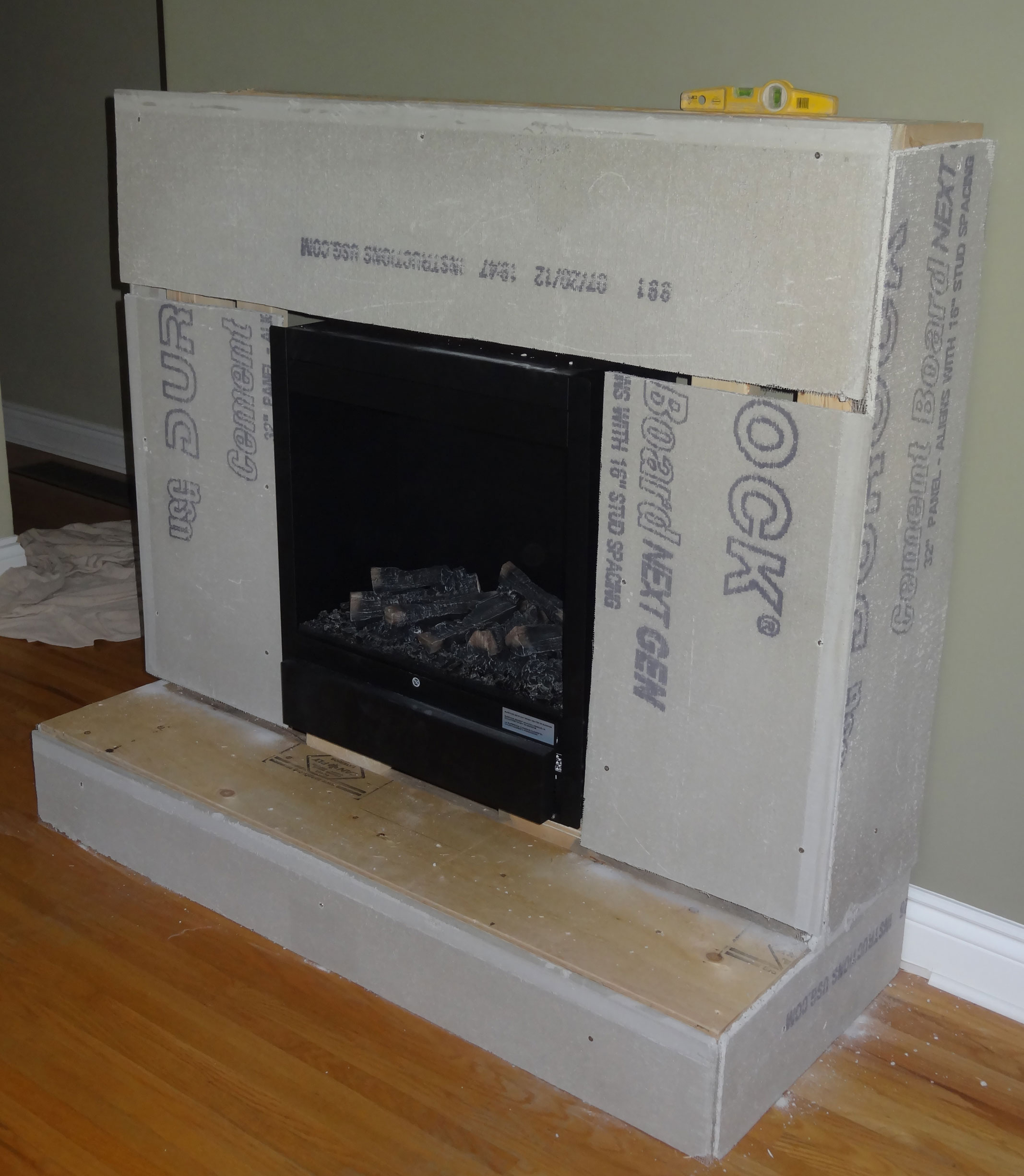 Case Study Stone Fireplace Electric Fireplace Built