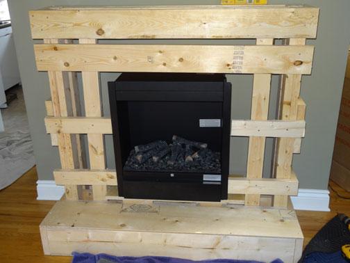 Case Study Stone Fireplace Electric Fireplace Built