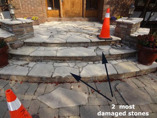 Case Study Flagstone Stair Repair Wiarton Stone Random