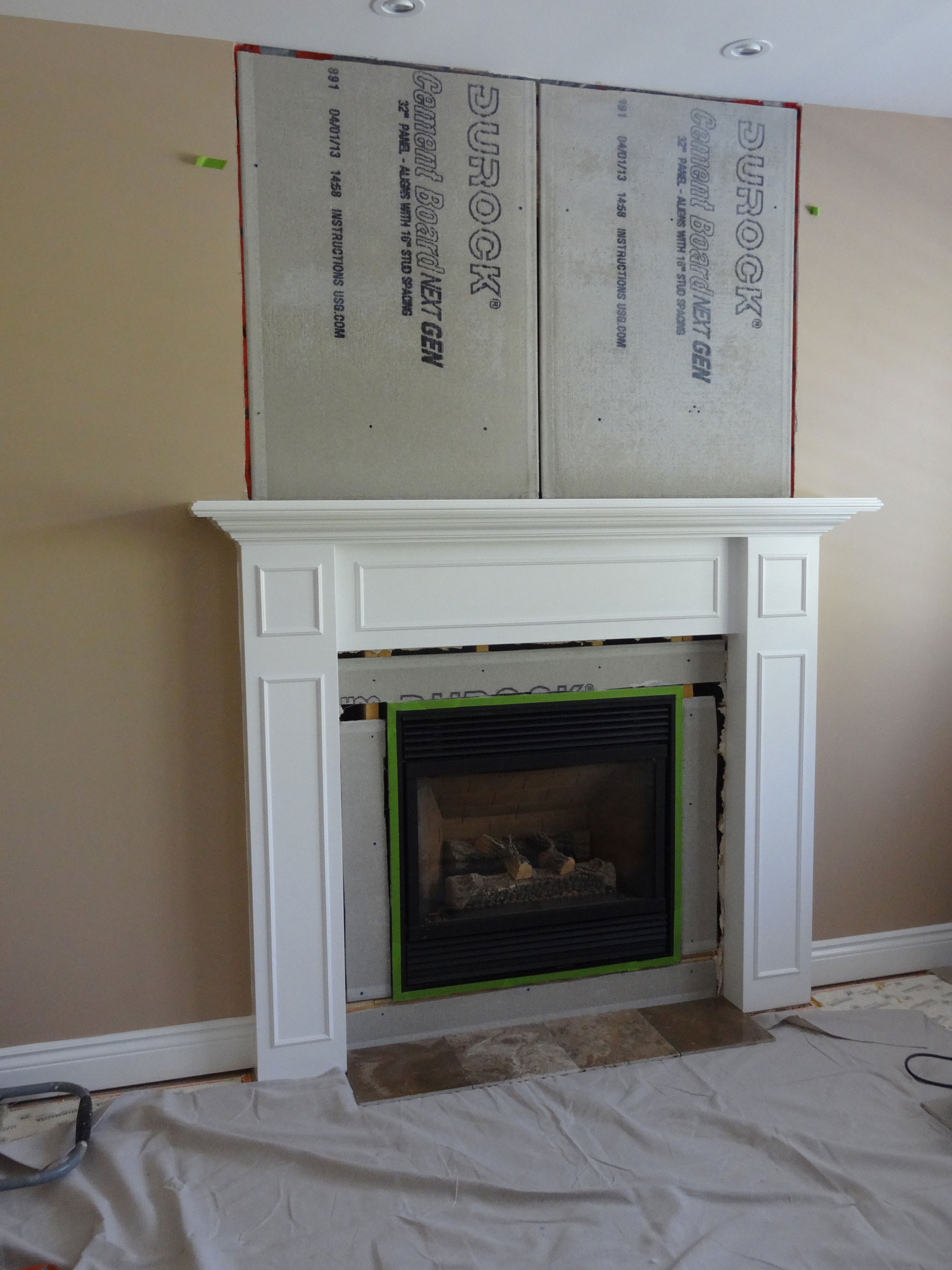fireplace way makeover floating installation resurfacing to refacing napoleon with fireplaces the