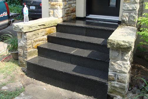 Granite Stair Build Ottawa Case Study Stone Techniques