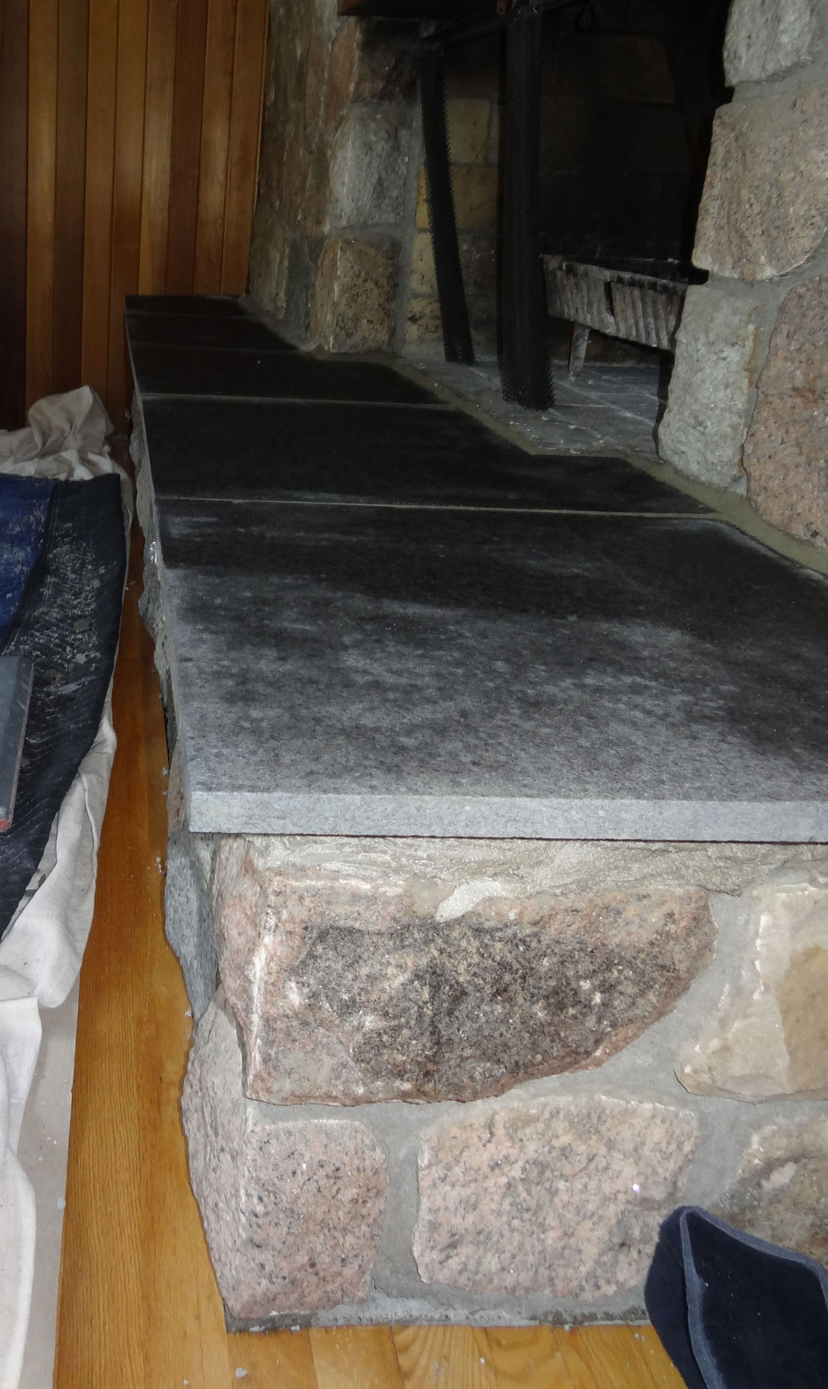 stone fireplace hearth replacement ottawa case study