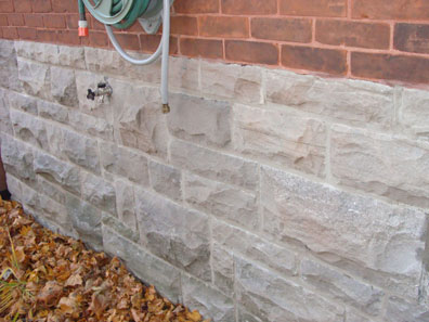 Masonry repairs cement repair parging concrete walkways chimneys cement repair chimney for Parging interior basement walls