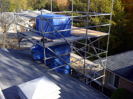 Chimney Rebuild Custom Scaffold Ottawa Masonry Case
