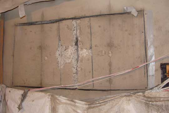concrete basement window concrete wall cut out and installation